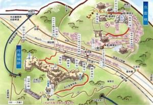 竹田城 地図
