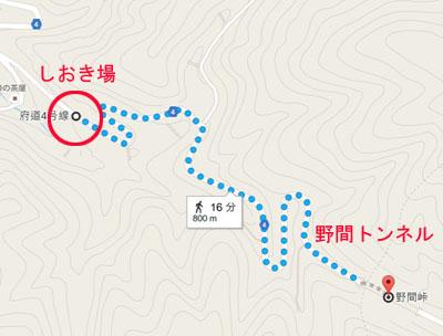 しおき場の地図