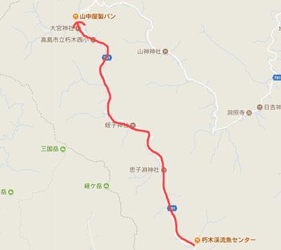 おにゅう峠地図