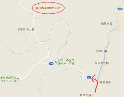 小入峠の地図