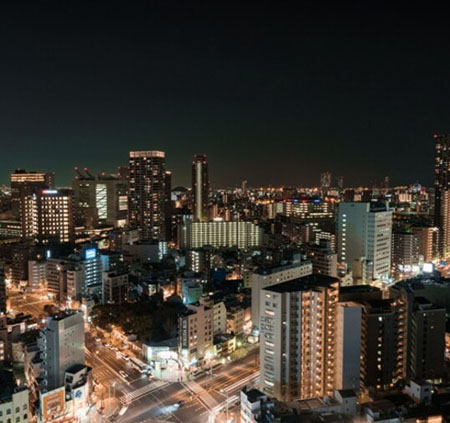 大阪のきれいな夜景